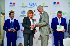Столичният кмет Йорданка Фандъкова лично прие наградата от посланик Льобедел, присъдена на Столична община в най-оспорваната категория за устойчиво управление на отпадъци за община с население над 40 000 жители