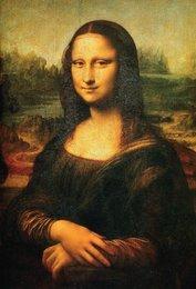 Когато специалистите в Лувъра проучиха внимателно тази картина с инфрачервени лъчи, откриха странно нещо. Върху първия слой имаше зелено куче в долния десен ъгъл