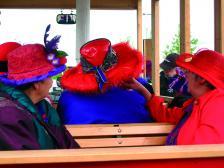 За да отидеш на сбирка на Обществото на червените шапки, е достатъчно да не се притесняваш да се облечеш ярко и да обичаш да се забавляваш