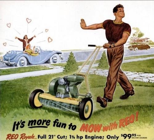 Пак от тогава: Да косиш поляната пред къщата е много по-забавно, отколкото да излезеш с момичета.