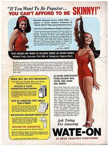 """В началото на 60-те: """"Мъжете няма да ви харесат, ако сте много слаба."""" Времената със сигурност са се променили, нали?"""