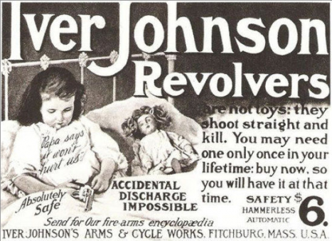 1904 г.: Оръжията са толкова безопасни, че могат да бъдат и играчки.